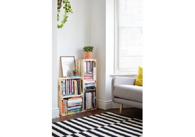bibliotheque caisse bois