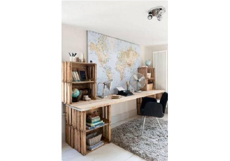 bureau caisse bois